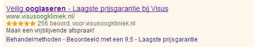 Verkoopbeoordelingen google
