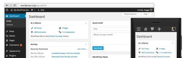 Wordpress nieuws design 3.8 parker