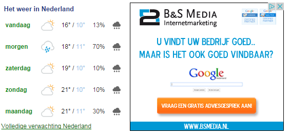 display adverteren B&S Media