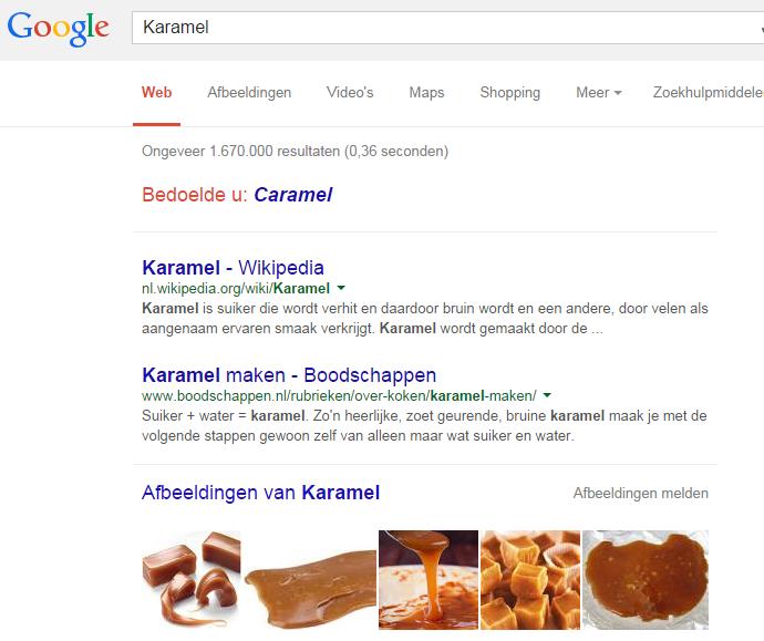 Voorbeeld karamel seo afbeelding optimalisatie