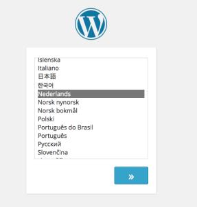 Installatie taal WordPress 4.0