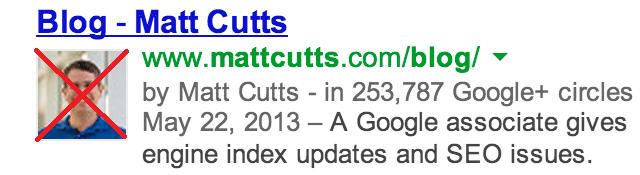 einde google auteurschap