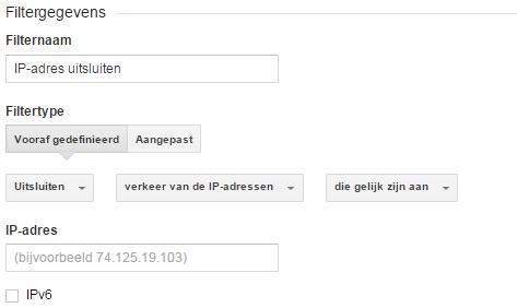 ip-adres uitsluiten google analytics