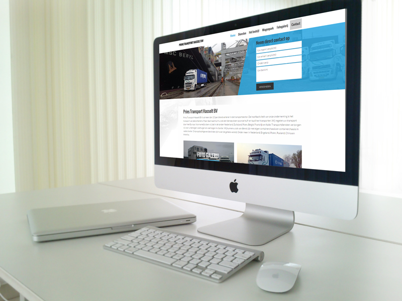 Prins Transport nieuwe website