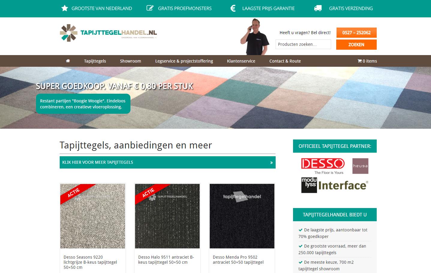 Webshop Tapijttegelhandel