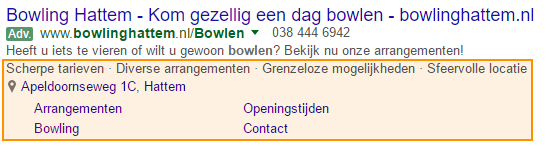 Bowlingcentrum 't Heem advertentie extensies