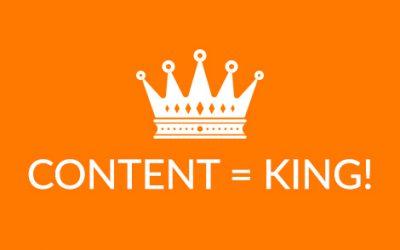 Content is king: 5x waardevolle content creëren!