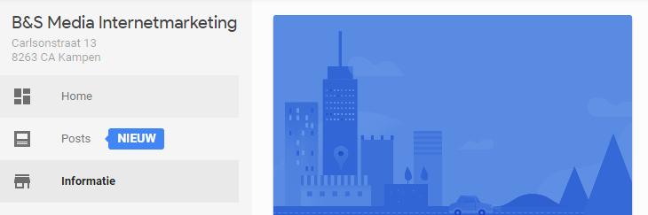 Google url toevoegen