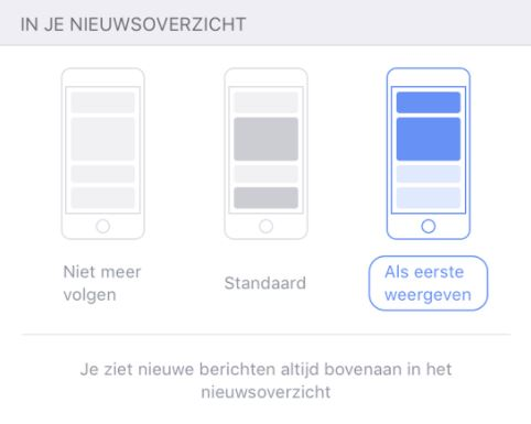 Facebook als eerste weergeven mobiel