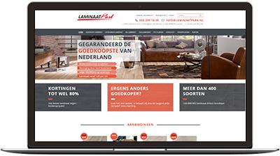 Laminaatpark - nieuwe website