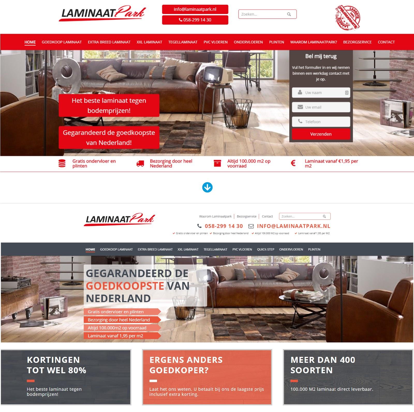 laminaatpark - oud vs nieuw ontwerp