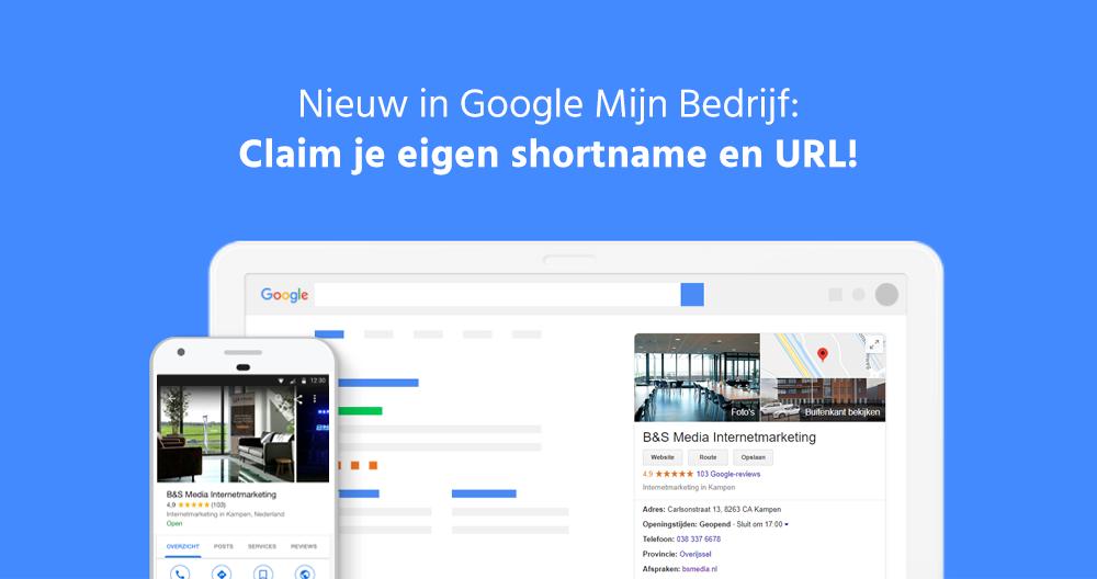Google Mijn Bedrijf Shortname