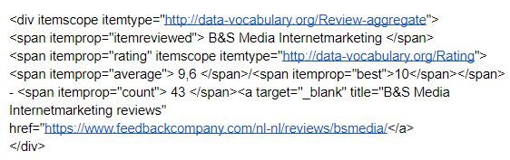 Structured Data voor Reviews