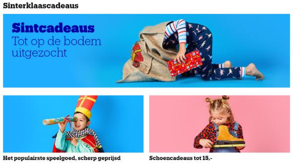 Bol.com Sinterklaaspagina