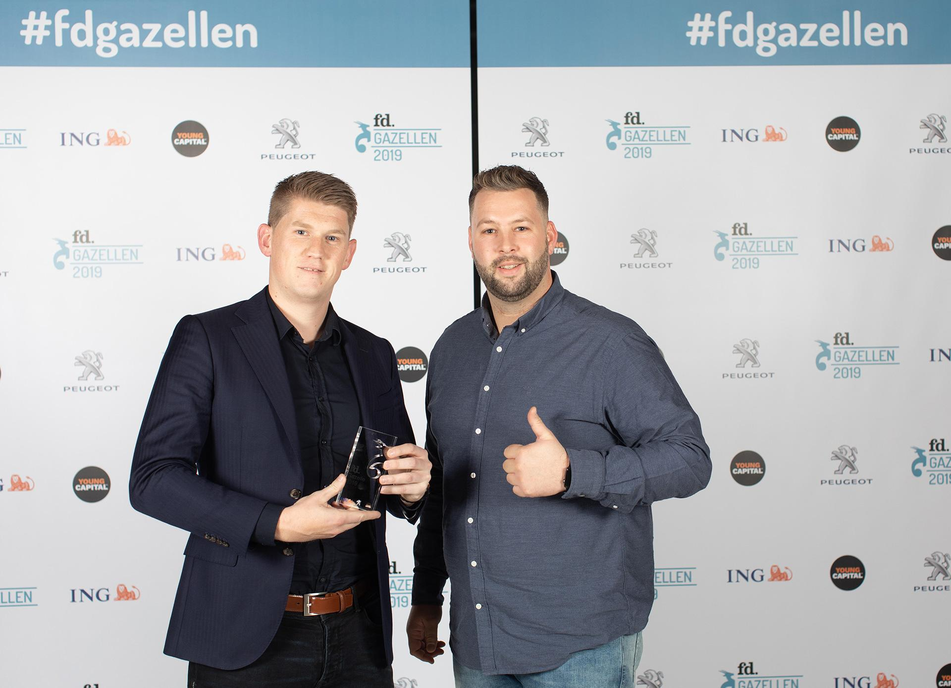 Uitreiking FD Gazellen Award B&S Media