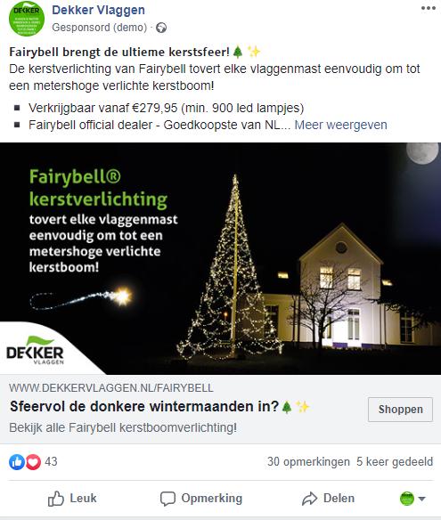 Facebookpost feestdagen