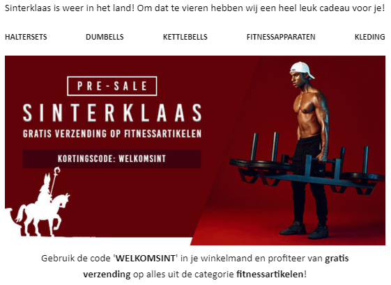 GorillaSports Sinterklaasaanbieding