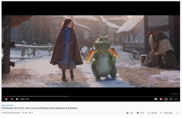 Kerstadvertentie op YouTube
