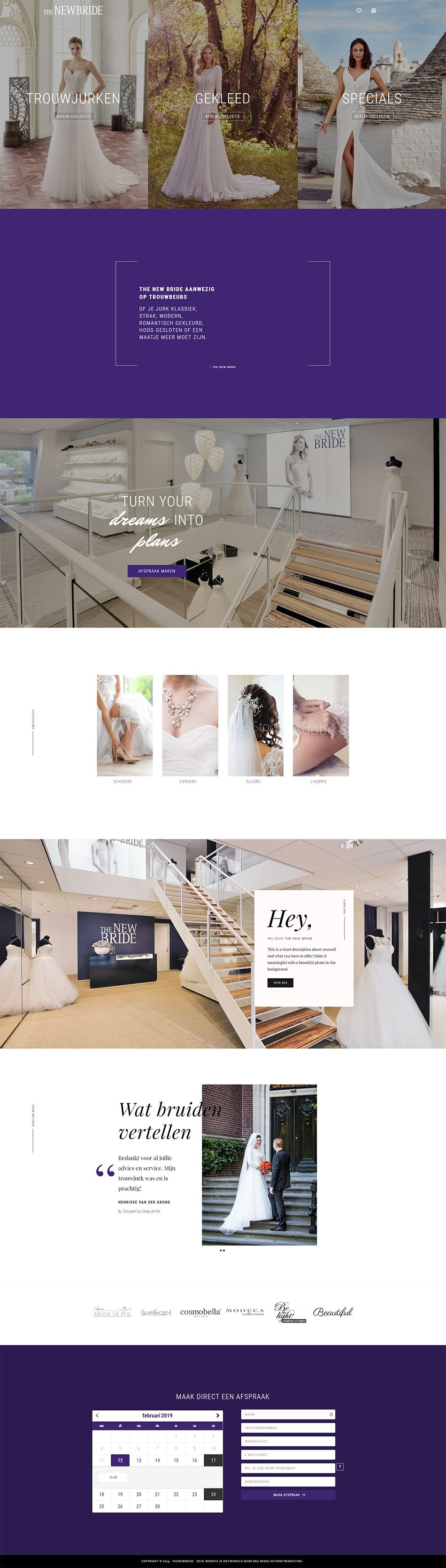 Webdesign The New Bride