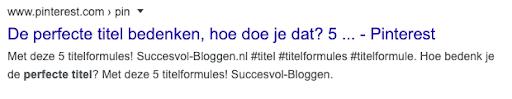 Title tag afgekapt in Google