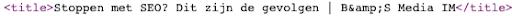 title tag in de html code
