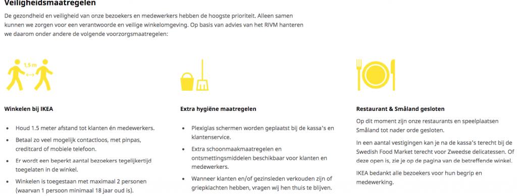 Voorbeeld veiligheidsmaatregelen Ikea