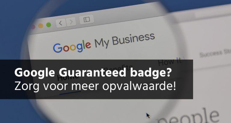Google Guaranteed Google Mijn Bedrijf