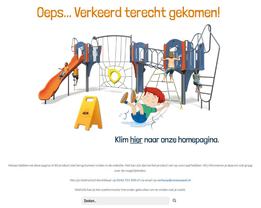 404-pagina Van Ee Speelgoed