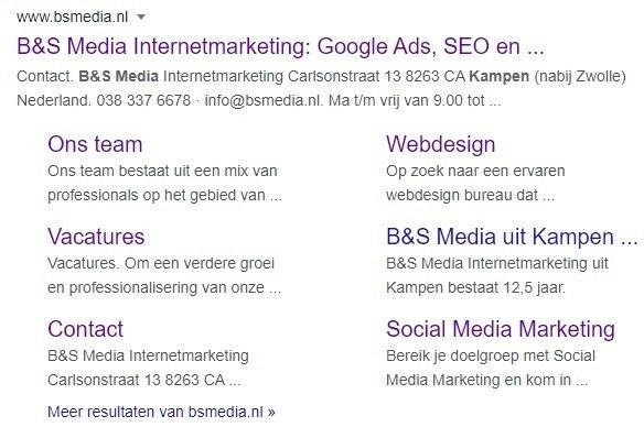 Branded sitelinks