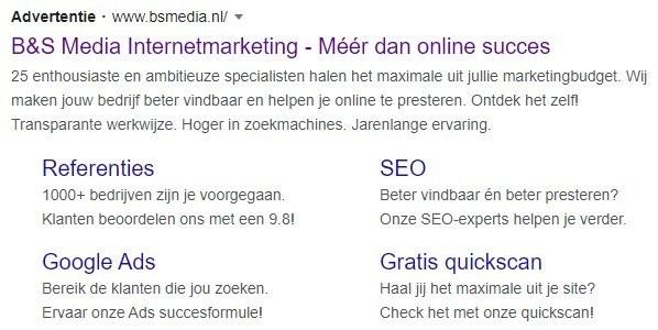 Google Ads sitelinks