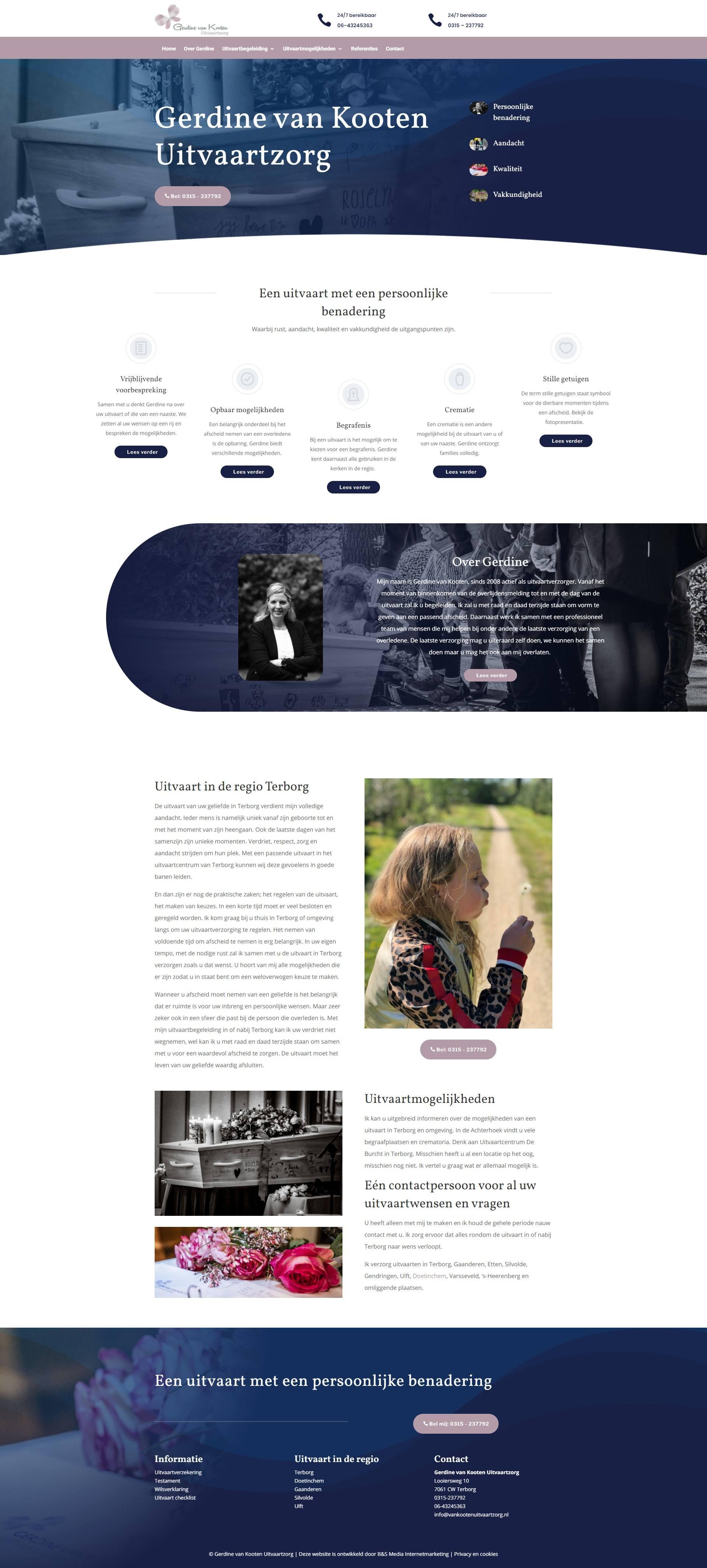 Website Gerdine van Kooten