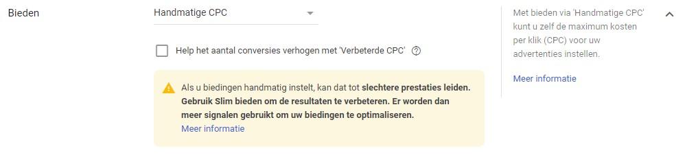 Handmatige CPC